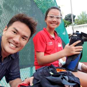 Coach XT tennis student Charlotte Yeo - top singapore tennis junior
