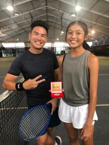 Coach Xt with his student Wee E-Wen