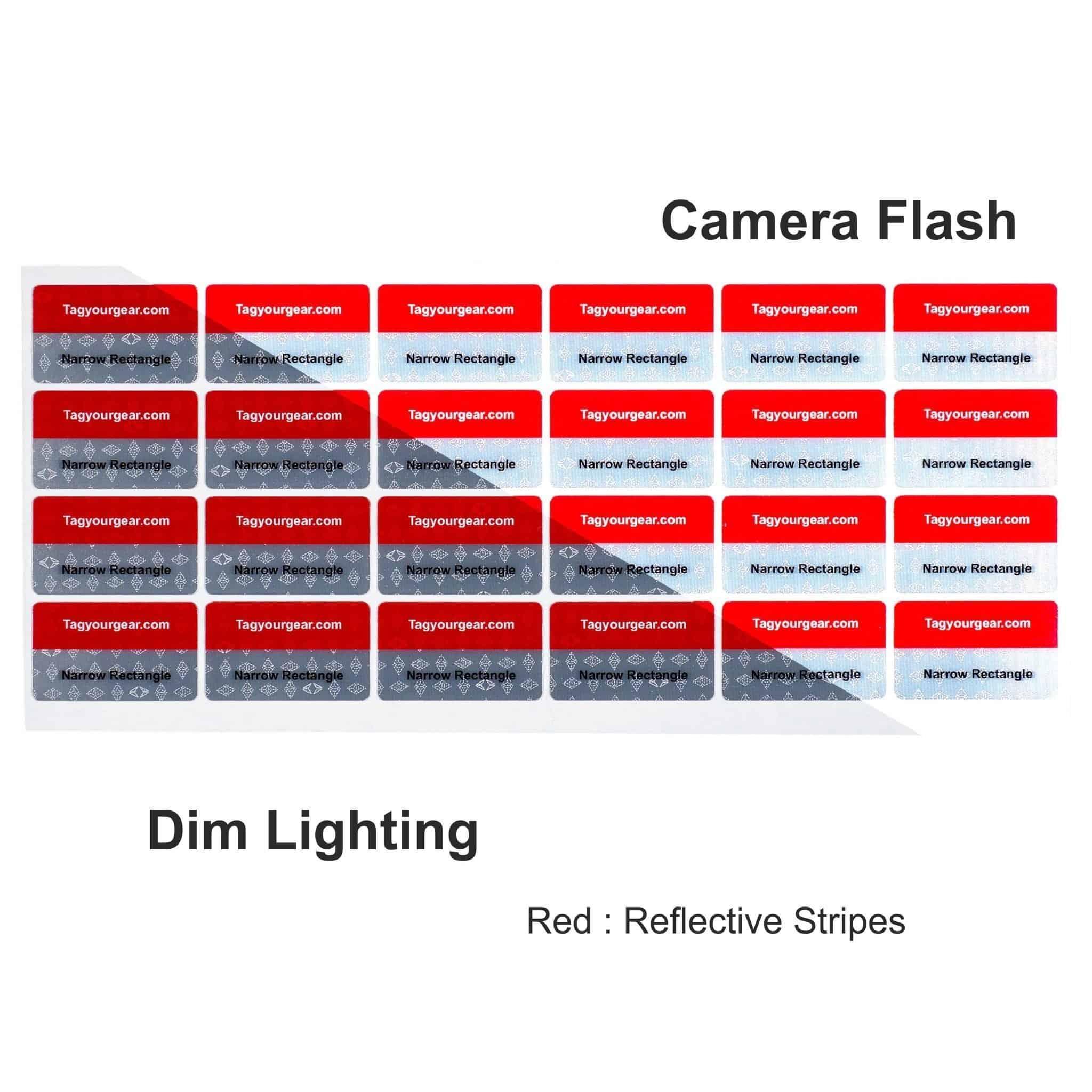 multiple color reflective gear labels