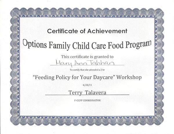 License | Tahhan Child Care