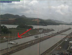 Panama Canal Web cam sample