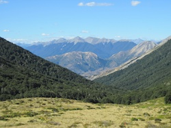 View from Cass Pass in New Zealand