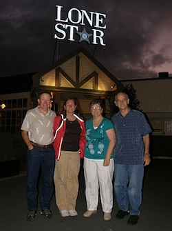Frank, Karen, Coleen, and Norm at Lone Star Christchurch