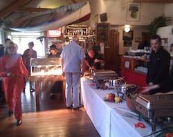 Thanksgiving Dinner buffet at Reva's in NZ