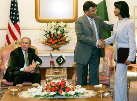 George W Bush General Pervez Musharraf Condoleezza Rice