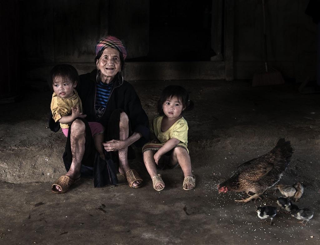 Hmong Family. Sapa / Nord Vietnam