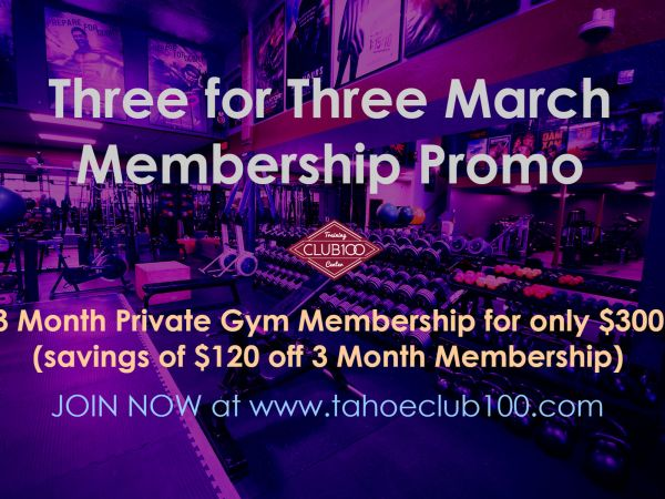 Tahoe Club 100 March 2017 Promo