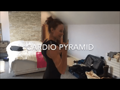 Rosie's Travel Blog: Cardio Pyramid 5 Minutes 5 Moves Same 5 Moves but reversed (Like a Pyramid)