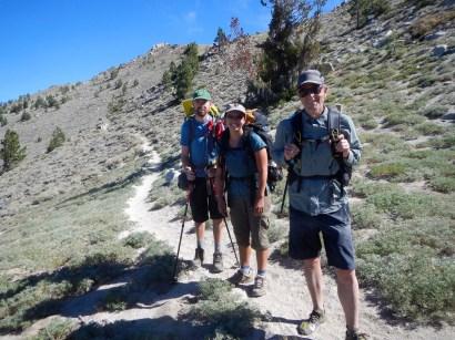 Tamara, Chris and Chuck, thru hiking the TRT