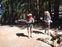 "Tamara and Chris - the trail was pretty dusty, so Tamara's new trail name became ""Bandita"""