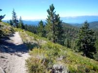 Looking south along trail below Snow Valley Peak