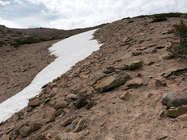 Lingering Snow in July
