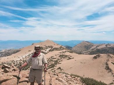 On Freel Peak with Job's Sister behind - 10,823'