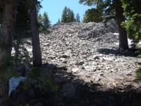 Mound of stone blocks
