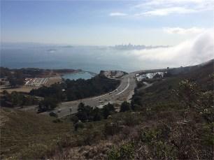 San Francisco Bay and Ft. Baker from Coastal Trail