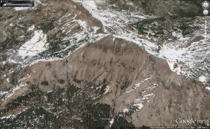 Castle Peak satellite view