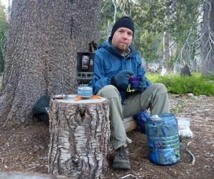 23-Eating Breakfast Near Ward Creek
