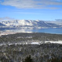 Snowshoeing on the South Shore of Lake Tahoe