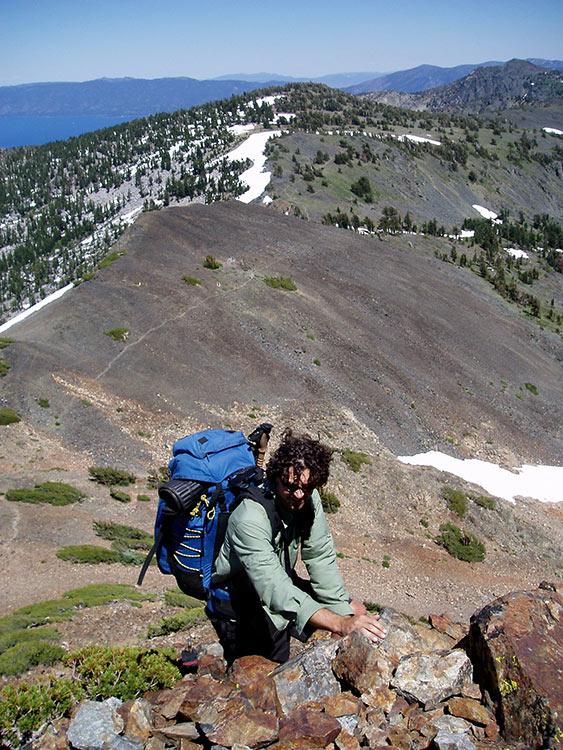 Climbing up to Dicks Peak