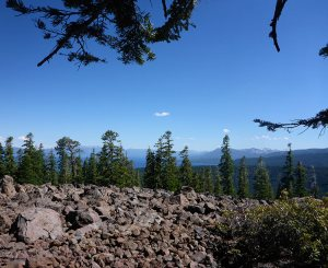 26 - Sliver of Lake Tahoe Viewed Beyond the Boulder Patch and Trees