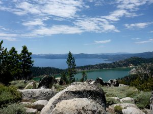 50 - Marlette Lake in the Foreground and Lake Tahoe in the Background