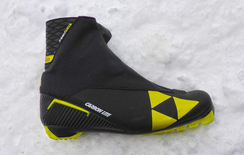 Fischer Carbon Lite Classic Cross-Country Ski Boot. A lightweight classic boot designed more for racing. © Jared Manninen