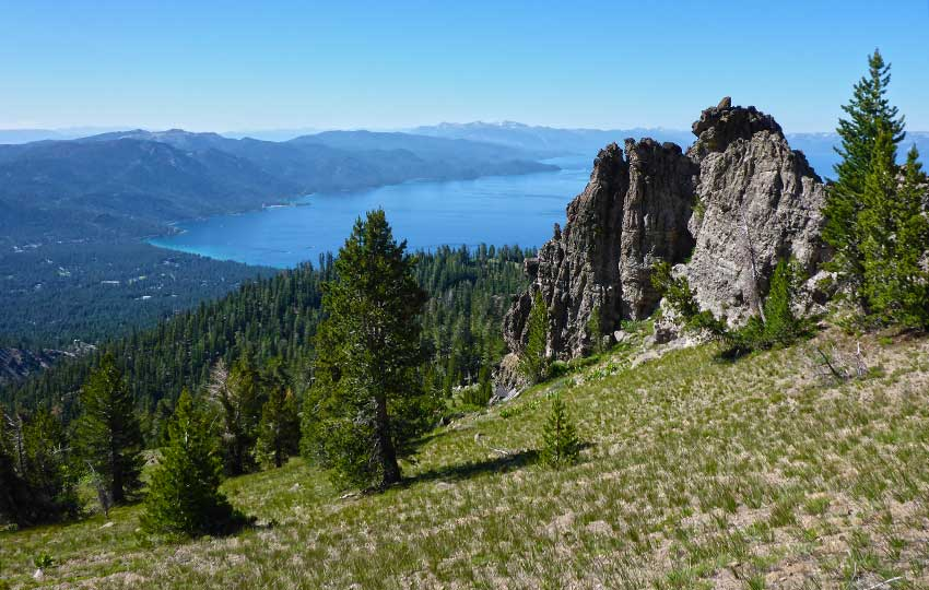 Crystal Bay viewed from the Tahoe Rim Trail