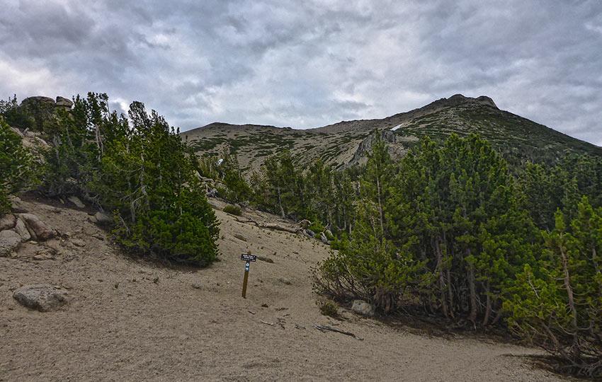 Sandy hiking trail and Freel Peak