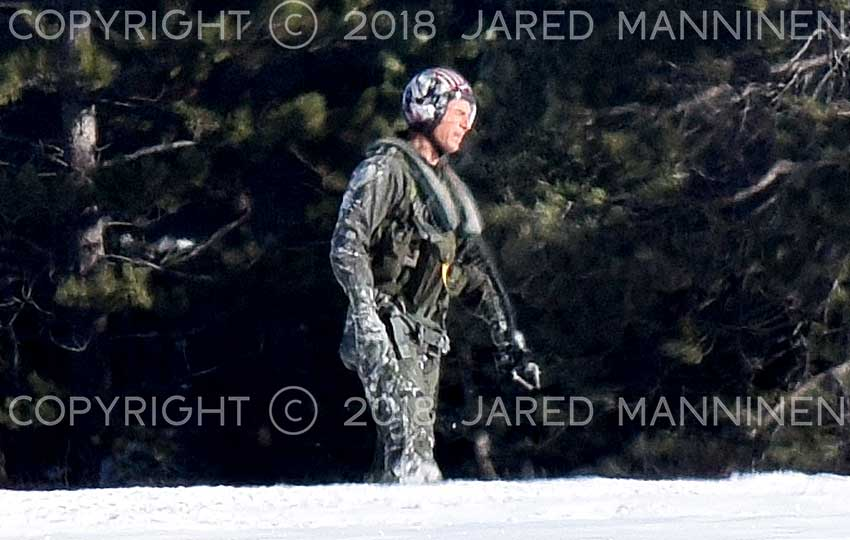 Tom Cruise on the set of Top Gun: Maverick
