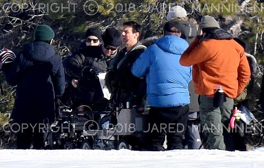 Tom Cruise takes a break between scenes on the set of Top Gun: Maverick