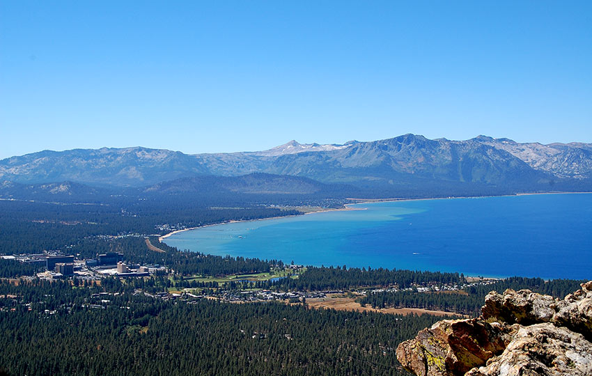 View of South Tahoe from Castle Rock