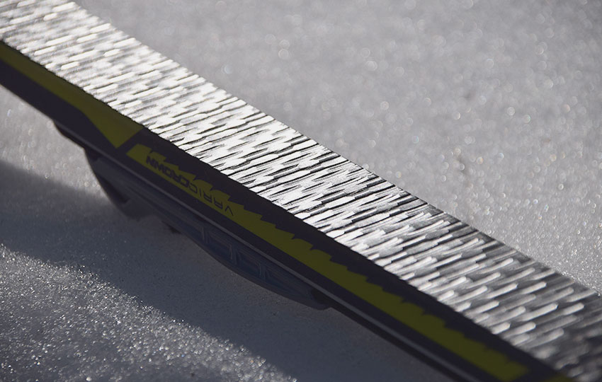 Grip zone of a Fischer Brand cross-country track ski