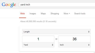 Google menyediakan konversi dari suatu satuan atau dari suatu mata uang di mesin pencariannya