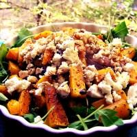 Salată caldă de dovleac