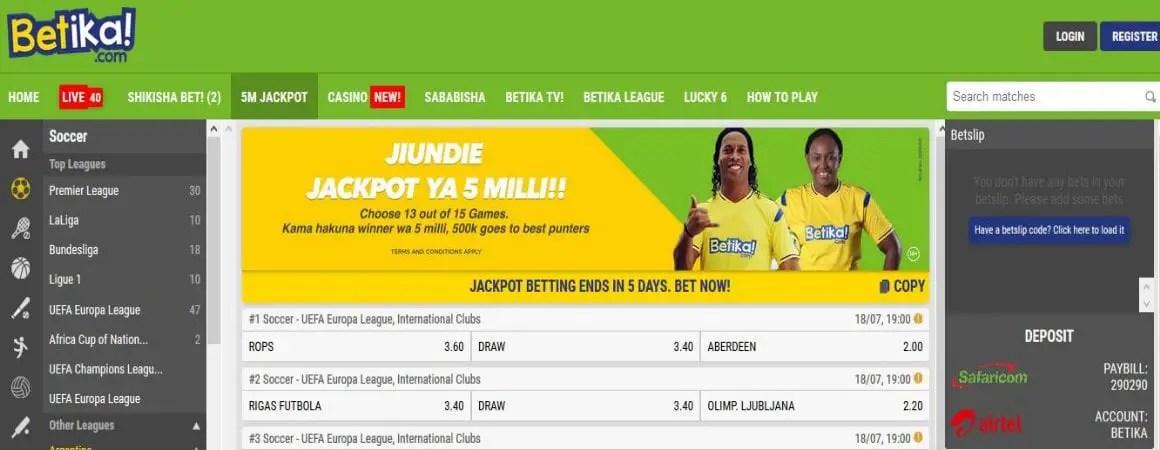 Betika Kenya Jackpot Predictions