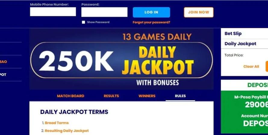 Shabiki Daily Jackpot Results,Bonuses and Jackpot Winners