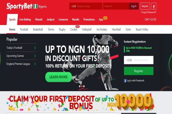 SportyBet Nigeria Registration, Login, App, Jackpot, Bonuses and Contacts