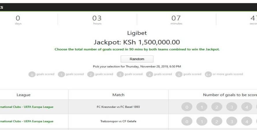 LigiBet Jackpot Results,Bonuses and Jackpot Winners
