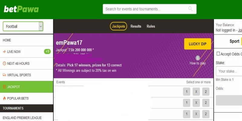 BetPawa Tanzania Weekend Jackpot Predictions