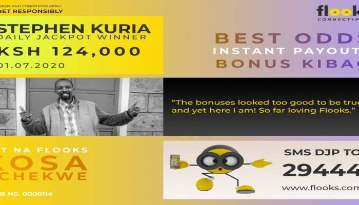 A Farmer from Murang'a Scoops Ksh 124,000 from Flooks Betting Company