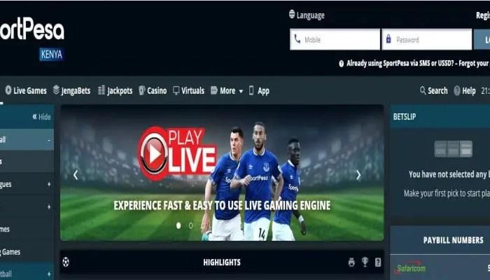 SportPesa Registration, Login, Deposit, App, PayBill Number, Jackpot, Contacts