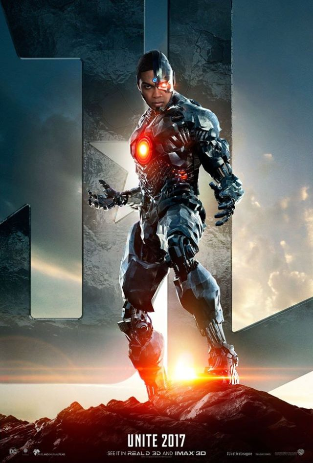 Cyborg character poster for Justice League