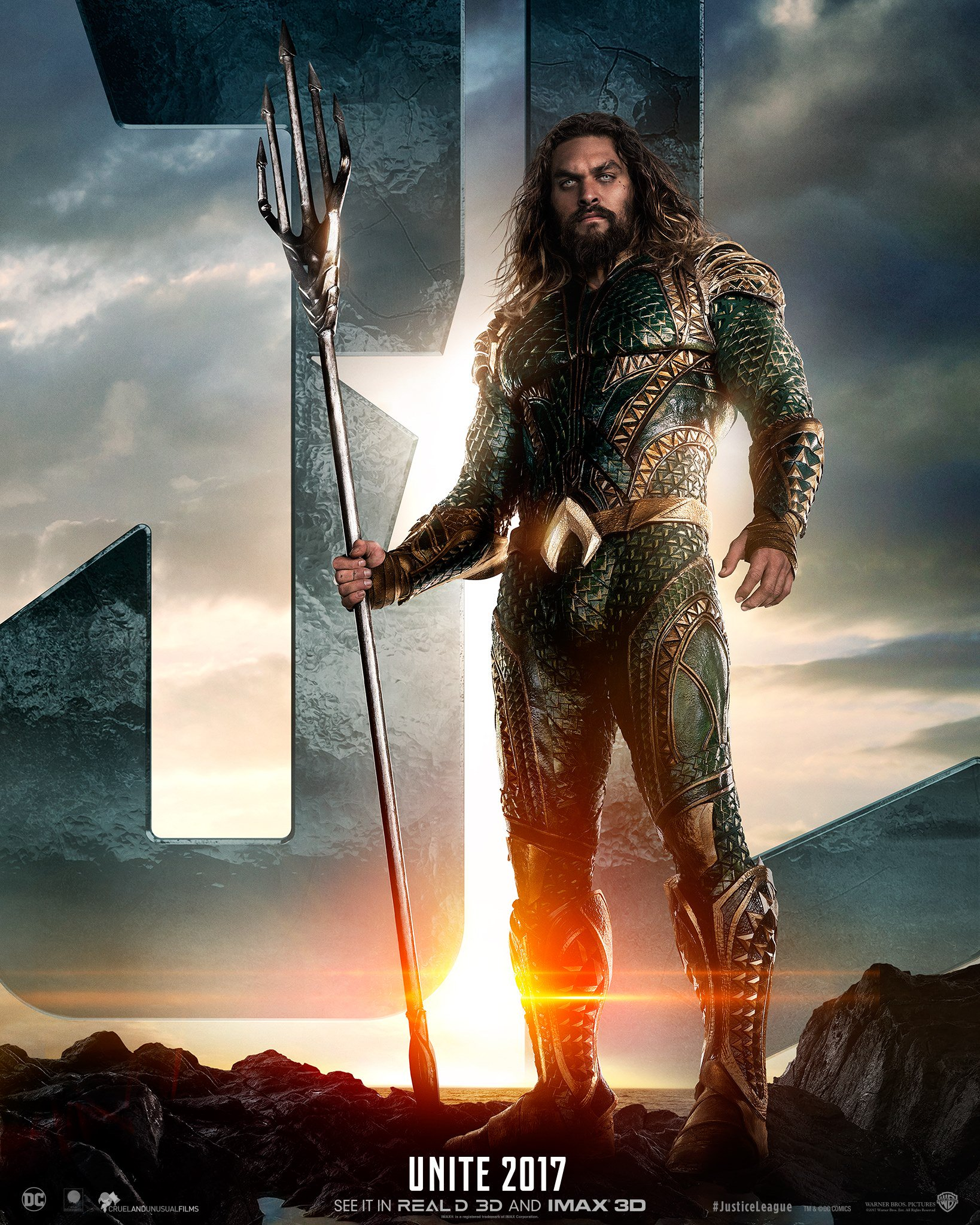 Aquaman character poster for Justice League