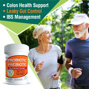 Probiotic and prebiotic supercombo