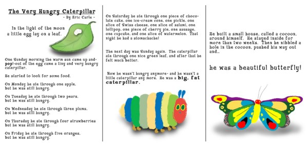 the very hungry caterpillar text # 8