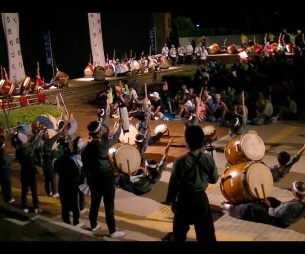 17回響け宮前太鼓ミーティング2015年「大地」演奏風景