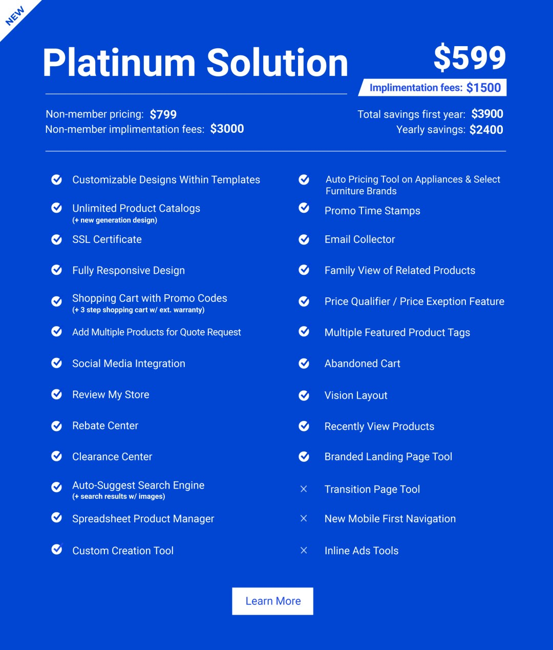 Retail Website Platinum Solution
