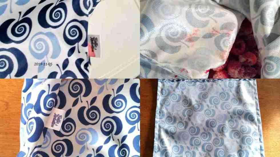 Congélation dans sacs collation - lavage - montage avant-après