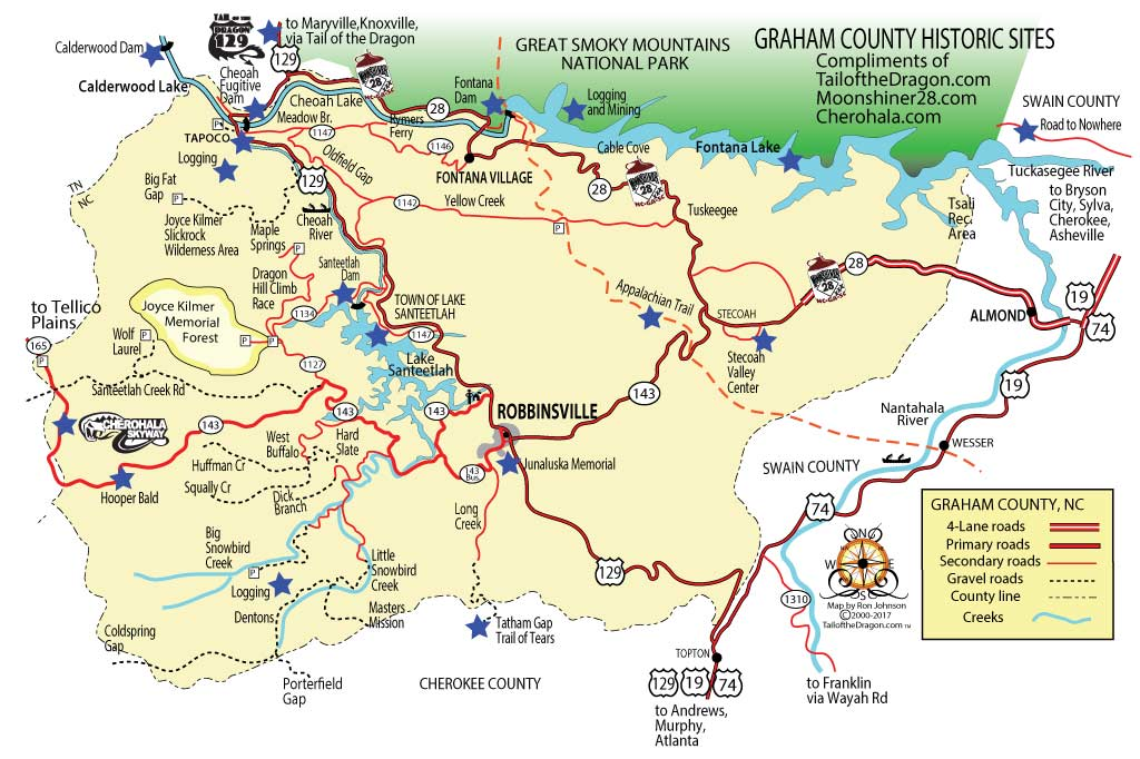 Tail Of The Dragon Maps Motorcycle And Sportcar Touring