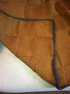 Picnic blanket, closeup view of pattern.